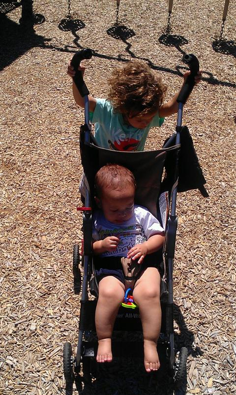 at the park a few weeks ago ... fun!