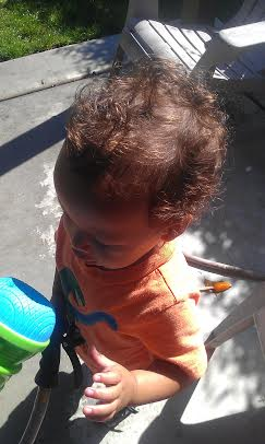 had to capture his growing hair :) it's actually much shorter and less curly than josiah's was at this age.