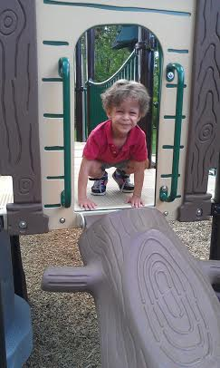 my big boy, at the same park last week.he is fearless with slides!