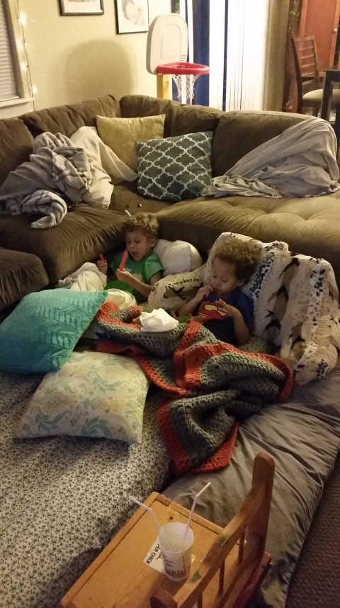 sweet big sister suggested a movie night with brothers one night and they had a blast camping out on the living room floor while i had a glorious bit of time alone in my room :) perhaps with a glass of wine, some chocolate and a magazine