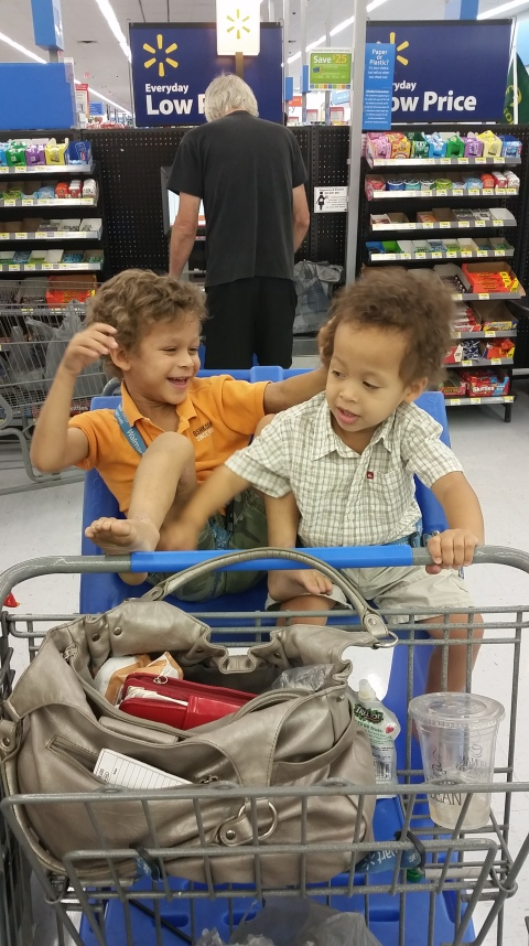 that time in walmart where they would NOT keep their hands off each other and i was pushing the 92 foot cart and i was just about done.